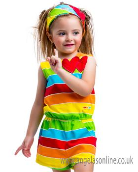 Agatha Ruiz Girls Summer Playsuit 5902-18 Multi