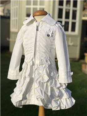 S&D Le Chic Girls Coat C7115200 17 White