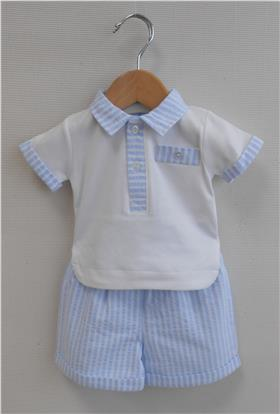 Sardon Boys Short Set 18CO-435 Blue