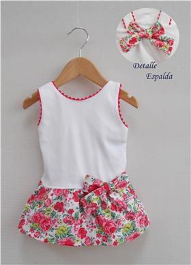 Sardon Girls Summer Dress 18CO-445 White