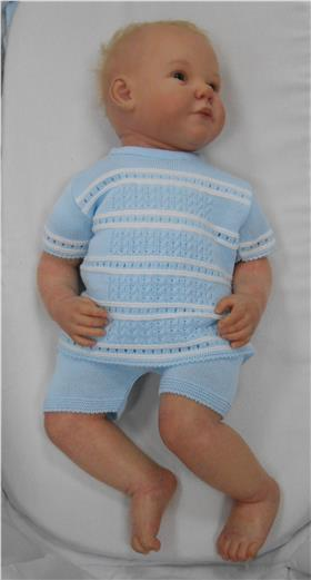 Sardon Boys Knitted Set 18VE-119-18 Blue