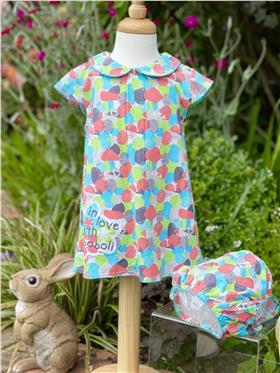 Boboli baby girls dress & knicks 135043-18