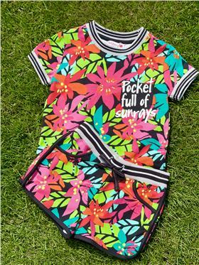 Boboli girls T shirt & shorts 415099-415066