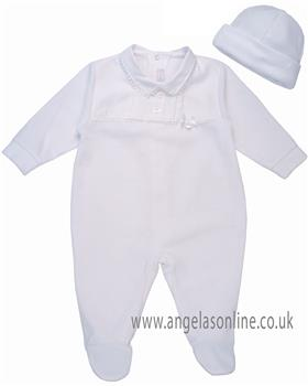 Coco babygrow & hat CCS5550 White