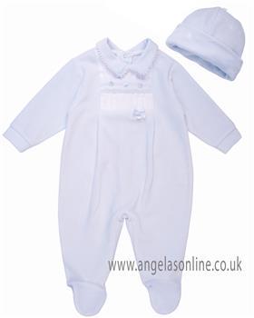 Coco babygrow & hat CCS5553 Blue