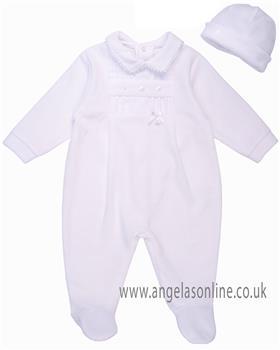 Coco babygrow & hat CCS5553 White