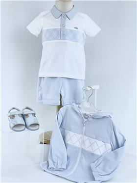Coco Boys short set CCS5596-18 BL/WH