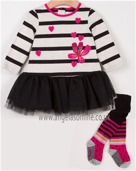 Catimini girls dress & tights CM30143-94043
