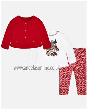 Mayoral baby girls 3 piece set 2792-18 Red