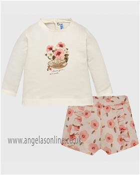 Mayoral baby girls short set 2212-18 Pink