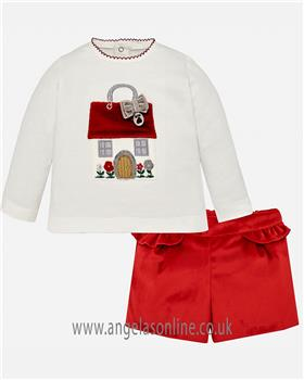 Mayoral baby girl short set 2210-18 red