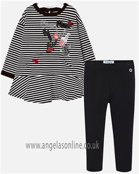 Mayoral Girls dress & leggings 4977-717-18 Black