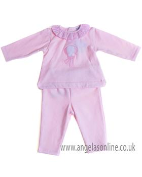 Sardon baby girls jogsuit CO-432 Pink