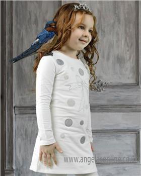 S&D Le Chic girls winter dress C8085861 Ivory