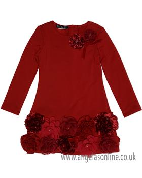 Kate Mack Girls Dress 102RR-18 Red