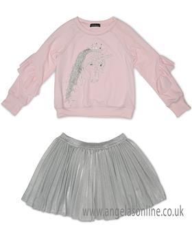 Kate Mack unicorn sweatshirt & skirt 503-504UD-18