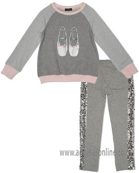 Kate Mack ballet shoes sweatshirt & jegging 512-514FP-18