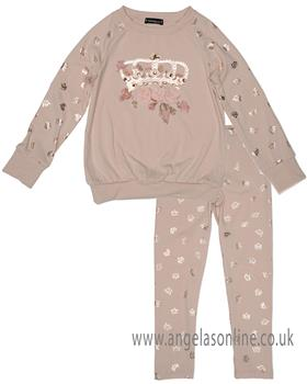 Kate Mack Girls Jogsuit 532-534RK-18 Pink