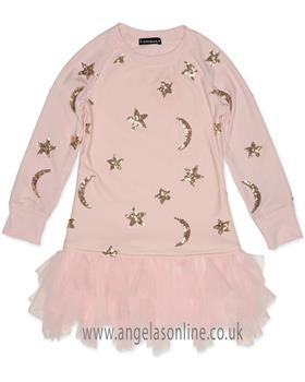 Kate Mack Girls Dress 550MS-18 Pink