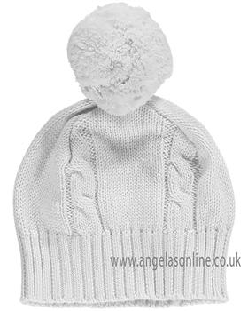 Emile et Rose Baby Bobble Hat Fuzzy 4658 Grey