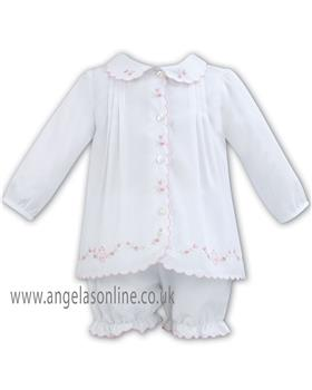 Sarah Louise baby girls knitted 2 piece 011269 White