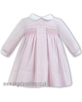 Sarah Louise baby girls winter dress 011277 PK-WH