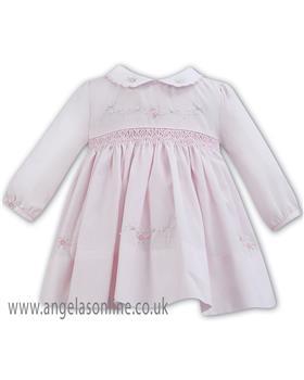 Sarah Louise baby girls winter dress 011272 PK-WH