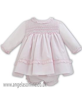 Sarah Louise baby girls winter dress & panty 011259 PK-WH