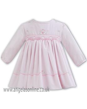 Sarah Louise baby girls winter dress 011280 pink