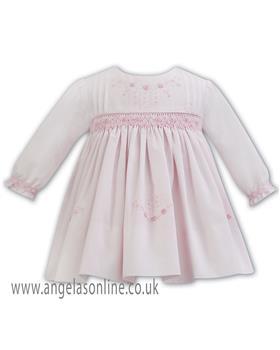 Sarah Louise baby girls winter dress 011265 pink