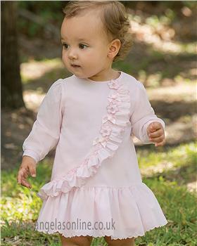 Sarah Louise baby girls winter dress 011300 pink