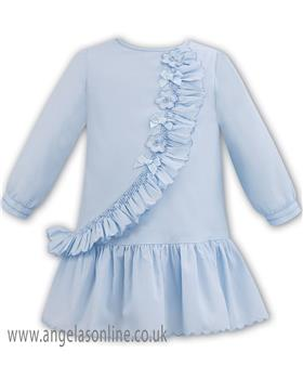 Sarah Louise baby girls winter dress 011300 blue