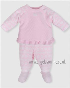 Tutto Piccolo baby girls two piece suit with feet 5485-18
