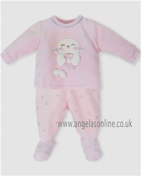 Tutto Piccolo baby girls two piece suit with feet 5488-18