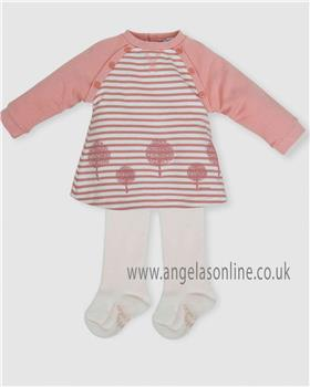 Tutto Piccolo girls dress & tights 5291-18 Pink