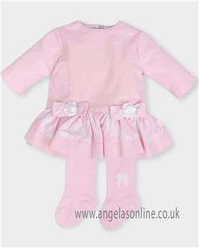 Tutto Piccolo girls dress & tights 5440-18 Pink