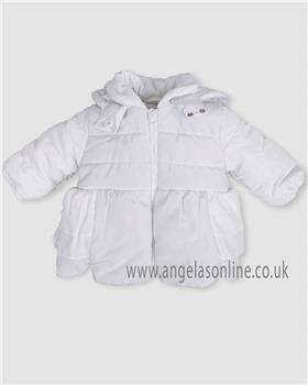 Tutto Piccolo Girls Coat 5512-18 White