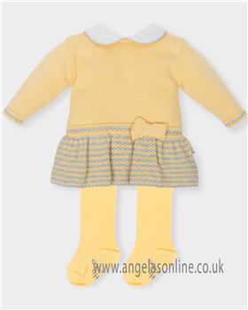 Tutto Piccolo Girls Dress & Tights 5204-18 YEL