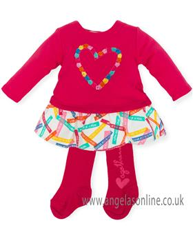 Agatha Ruiz Girls Dress 6220-18 Cerise