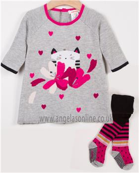 Catimini girls dress & tights CM30163-94043