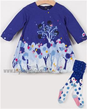 Catimini girls dress & tights CM30073-94023