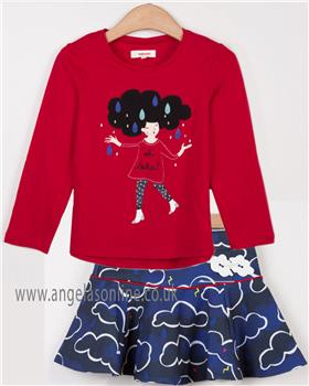 Catimini girls top & skirt CM10175-27055