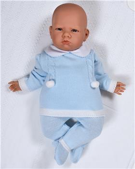 Sardon baby boys knitted jumper & footsie RF-816 Blue