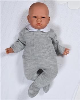 Sardon baby boys knitted jumper & footsie VE-184 grey