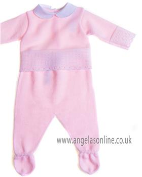 Sardon baby girls knitted jumper & footsie MC-901 Pink