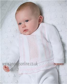 Dani baby girls knitted top & legging D09253 Wh/Pk