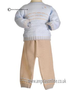 Pretty Originals Boys Jumper & Pants JPG1180E-BL/WHE