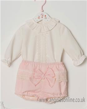 Dolce Petit Baby Girls Blouse & Shorts 24-2028-23-18 CR/PK