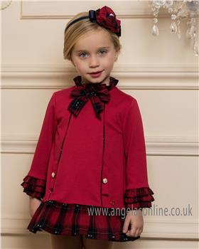 Dolce Petit Girls Dress 24-2245-V-18 RD