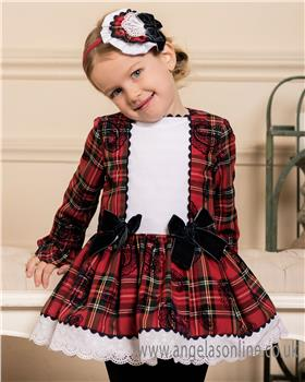 Dolce Petit girls tartan winter dress 24-2258-V